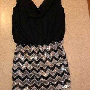 As U wish sequined skirt black top small minidress